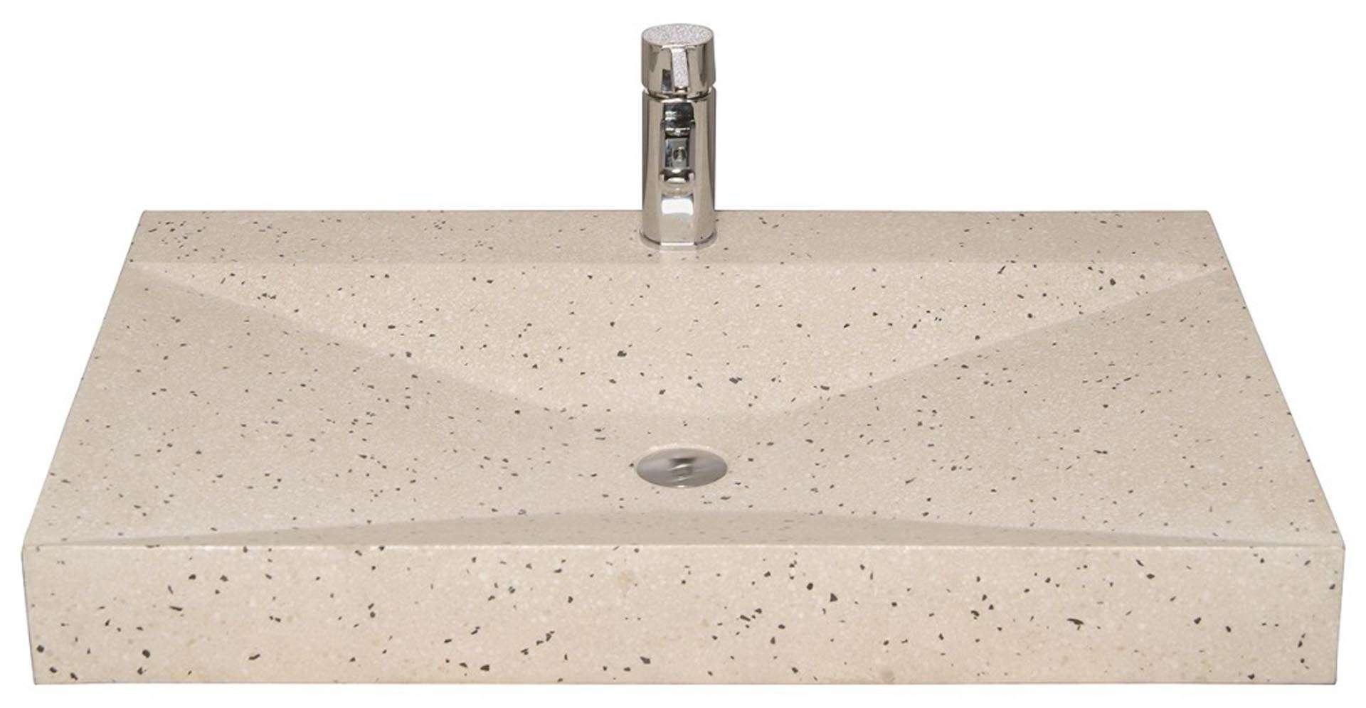 Håndvask i lys terrazzo med flotte kanter