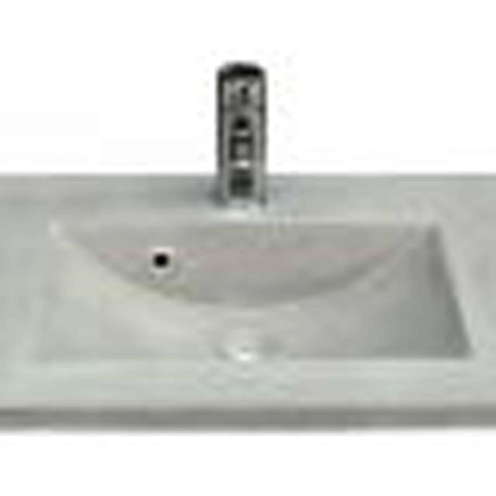 Grå betonvask med rund kant