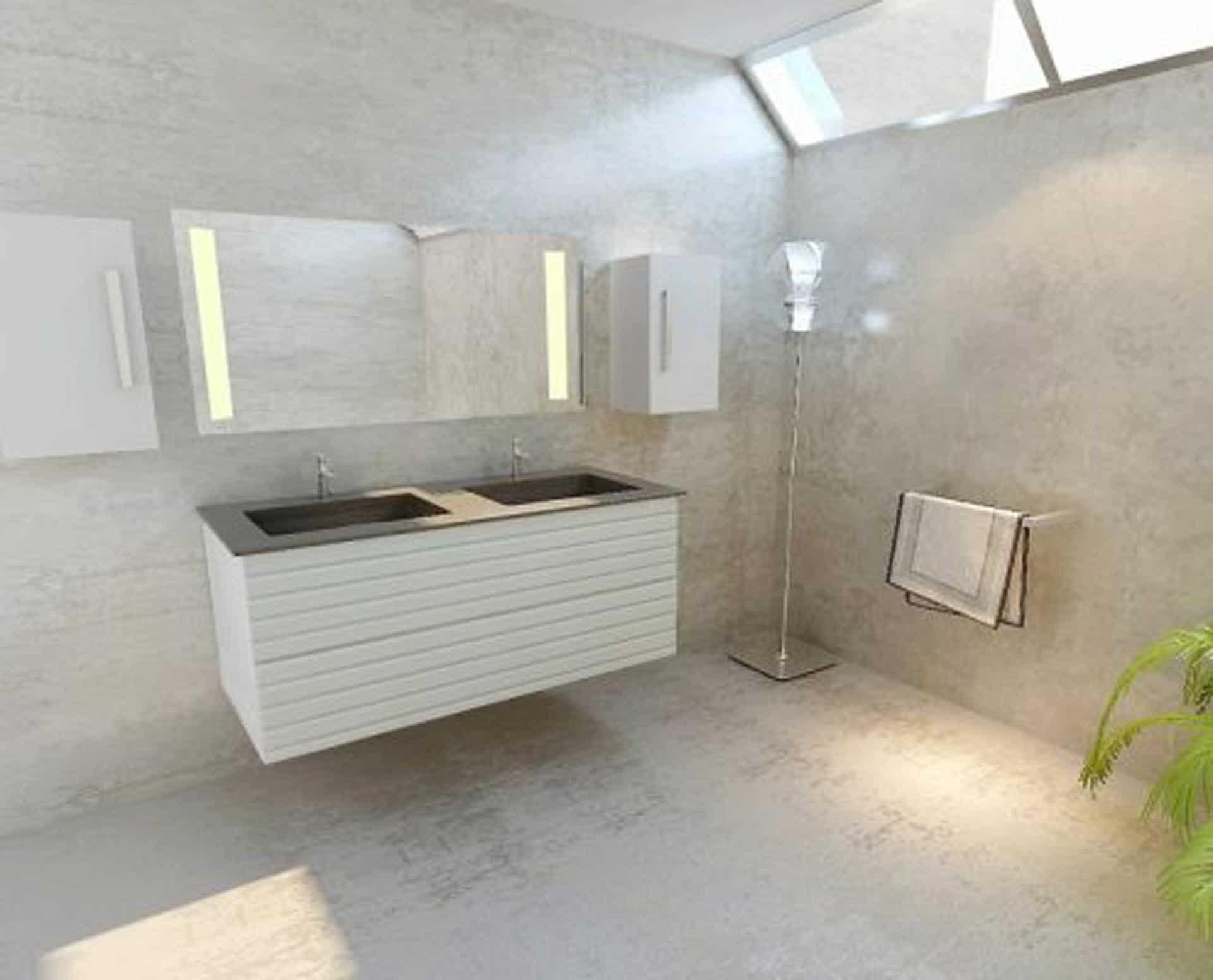 Lækker og simpel beton håndvask, med pæne afrundinger. Farven er i grå - en fantastik flot, moderne og naturlig betonfarve, der passer ind i ethvert badeværelse. Materialet er en kombination af komposit, fiber og beton, dette gør, at vasken er væsentlig stærkere end normal beton. Beton tåler ikke stærke rengøringsmidler, eller syreholdige produkter. Vi anbefaler derfor at vasken rengøres i pH neutralt rengøringsmiddel. Vasken har målene: 123,2 x 54,5 x 3 cm. Vasken skal stå på et skab. Køb et af vores tre slags åbne ophæng til slimlinevaske eller se vores guide til hvilket skab, der passer til og hvor du kan købe det. Vasken er hensynsmæssigt designet med fine rundinger, som både giver vasken et eksklusivt udtryk og gør den rengøringsvenlig. Vasken vedligeholdes med voks - vi anbefaler en behandling med vores egen naturvoks ID12002 et par gange om året for at opnå optimalt look.