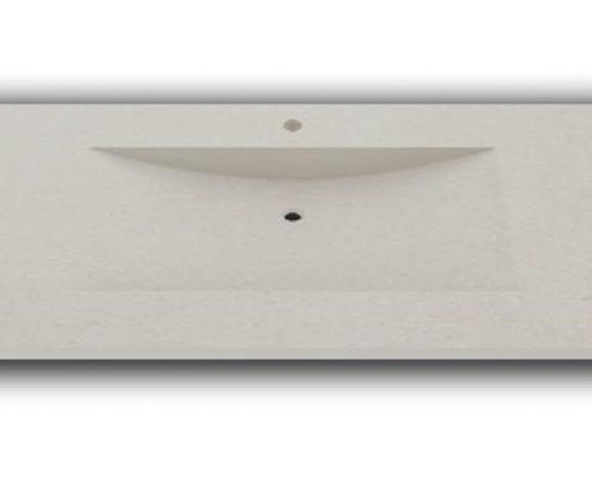 Lækker og simpel beton håndvask, med pæne afrundinger. Farven er i meget lys grå - en fantastik flot, moderne og naturlig betonfarve, der passer ind i ethvert badeværelse. Materialet er en kombination af komposit, fiber og beton, dette gør, at vasken er væsentlig stærkere end normal beton. Beton tåler ikke stærke rengøringsmidler, eller syreholdige produkter. Vi anbefaler derfor at vasken rengøres i pH neutralt rengøringsmiddel. Vasken har målene: 123,2 x 54,5 x 3 cm. Materialet er en kombination af komposit, fiber og beton, dette gør at vasken er væsentlig stærkere end normal beton. Vasken skal stå på et skab. Køb et af vores tre slags åbne ophæng til slimlinevaske eller se vores guide til hvilket skab, der passer til og hvor du kan købe det. Vasken er hensynsmæssigt designet med fine rundinger, som både giver vasken et eksklusivt udtryk og gør den rengøringsvenlig. Vasken vedligeholdes med voks - vi anbefaler en behandling med vores egen naturvoks ID12002 et par gange om året for at opnå optimalt look.