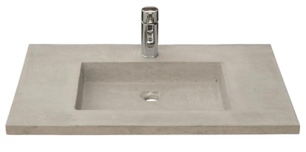 Lysegrå betonvask i firkantet design